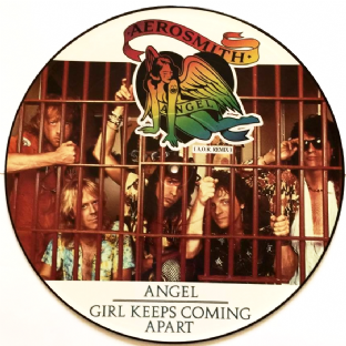 "Aerosmith ‎- Angel (A.O.R. Remix) (12"") (Picture Disc) (VG-EX/NM)"
